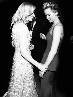 Cate Blanchett and Jennifer Lawrence at the Academy Awards, 2014.