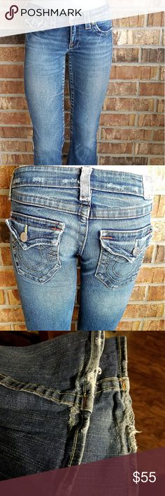 True Religion Jeans Size 29 True Religion World Tour Section Joey Row Seat   Good Condition.   A little wear on back hems..see pic. True Religion Jeans