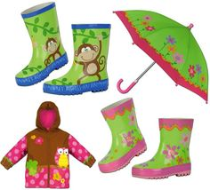 Kids Umbrellas and Rain Gear ~ up to 65% off! ~ at TheFrugalGirls.com #boots