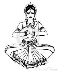 indian dance crafts for kids Girl Drawing Sketches, Art Drawings Sketches Simple, Pencil Art Drawings, Drawing Ideas, Dance Paintings, Indian Art Paintings, Mural Painting, Indian Drawing, Dancing Drawings