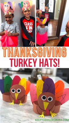 A Fun Thanksgiving Turkey Craft Kids Will Love: Turkey Hats