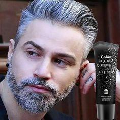 50 ml gel de cabelo cor creme de cabelo descartável cor cinza prata modelagem de cera pomada lama produto para rapidamente forte homem e mulher