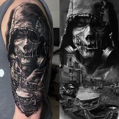 Does tattoo removal scar? by Location : Schwerte // Germany Zombie Tattoos, Scary Tattoos, Skull Tattoos, Leg Tattoos, Body Art Tattoos, Girl Tattoos, Tattoos For Guys, Best Sleeve Tattoos, Cover Up Tattoos
