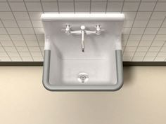 """BRIO™ Wall Hung Service Sink with 8"""" or no drillling on backsplash and stainless steel rim guard. $550, LAUNDRY ROOM - exposed underside to paint fun color 22"""" x18"""""""