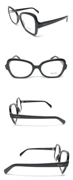 38e84248b59 Eyeglass Frames 180957  New Prada Vpr25s 1Ab-1O1 Shiny Black Eyeglasses  Authentic Italy Frame