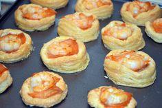 Vol Au Vent, Prawn, Shrimp, Hors D'oeuvres, Sea Food, Sushi, Nom Nom, Salmon, Xmas
