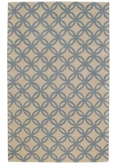 Capel Rugs Derry Optic Blue Sky Wool Rug  So in love with the rugs on this site!