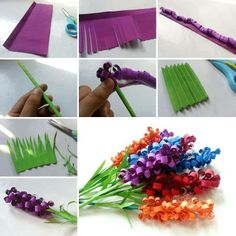 How to make flowers from paper? Here is a typ!