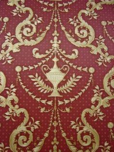 goud rood klassiek hermitage behang 8867-12
