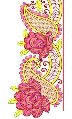 Now you can enjoy our Premium Range Embroidery Designs of Lace Border Embroidery Designs, Gold Embroidery, Machine Embroidery Designs, Embroidery Stitches, Embroidery Patterns, Graffiti Wall Art, Lace Design, Paisley Design, Fabric Painting