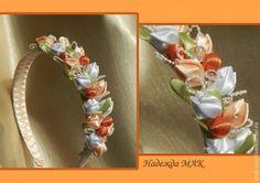 Hacer pequeña tyulpanchiki de cintas de raso - Masters Feria - hecho a mano, hecho a mano
