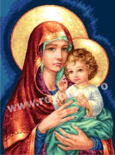 Icoana divina - Rogoblen Virgin Mary Art, Mona Lisa, Artwork, Work Of Art, Auguste Rodin Artwork, Artworks, Illustrators