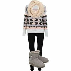 Love the sweater and scarf ♥♥