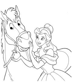 Horse Coloring Pages, Unicorn Coloring Pages, Coloring Pages For Girls, Cartoon Coloring Pages, Colouring Pages, Printable Coloring Pages, Coloring For Kids, Coloring Books, Disney Princess Coloring Pages