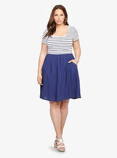 Striped T-Shirt Dress   Torrid