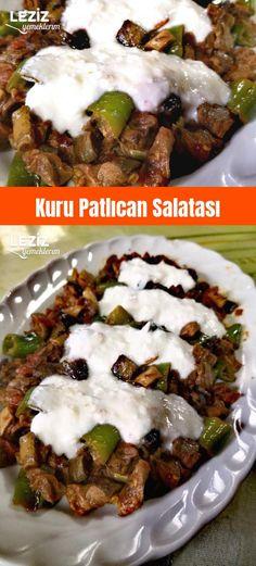 Dry Eggplant Salad – My Delicious Food - Vegetarisch Best Vegetarian Recipes, Vegetarian Appetizers, Iftar, Fun Easy Recipes, Easy Meals, Easy Vegetable Lasagna, Salade Healthy, Eggplant Salad, Turkish Recipes