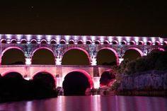 Mise en lumière du Pont du Gard   Site du Pont du Gard