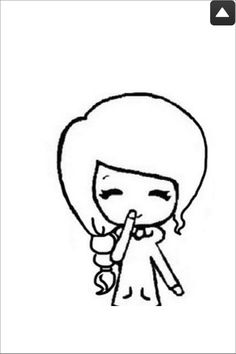 Chibi stencil for youtube/backrounds