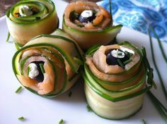 """Smokey Salmon and Veggie Pinwheels"" are gluten-free, low carbohydrate, high protein and omegas, and can be made paleo-friendly!"