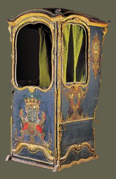 18th Century sedan chair from The Sedan Chair in Malta Exhibition, Fondazzjoni Patrimonju Malti