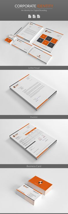 Professional Corporate Identity Stationery