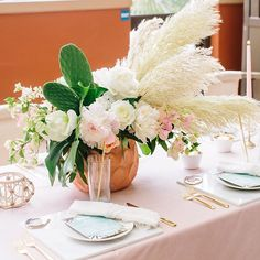 feminine and modern bridal shower with cactus and flowers