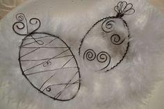 Ostereier aus Draht biegen | Draht, Eier und Verschiedenes