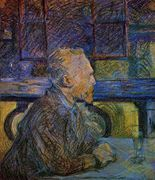 Portrait of Vincent van Gogh, by Henri de Toulouse Lautrec / De Agostini Picture Library / The Bridgeman Art Library Henri De Toulouse-lautrec, Portraits Illustrés, Van Gogh Portraits, Vincent Van Gogh, Van Gogh Museum, Art Van, Tolouse Lautrec, Paris, Post Impressionism