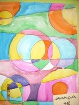 Robert Delaunay Abstract Watercolour Painting- Grade 4