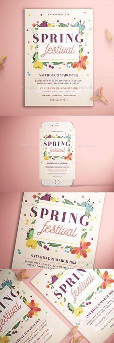 #Spring Festival #Flyer - #Holidays Events