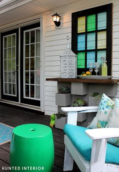 Love this back deck set-up!