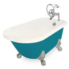 Beautiful Jester AcraStone Clawfoot Tub smooth to the touch inside and out. Perfected the traditional clawfoot bathtub with detail and devotion. AcraStone material is extremely durable, backed by a limited lifetime warranty. This Traditional Jester Cla Clawfoot Bathtub, Bath Tub, Small Tub, Color Shapes, Metal Finishes, Out Of Style, Color Splash, Faucet, All In One