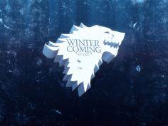 #gameofthrones #stark #winteriscoming  https://society6.com/product/3d-starks_print#1=45