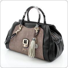 GUESS ONLINESHOP : Handtasche Guess Azadeh - Satchel Black Multi
