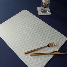 Art Deco Blue Placemats | Set of 2 - available from Audenza