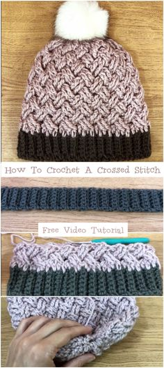 How To Crochet A Crossed Stitch Video Tutorial – Crochetopedia How To Crochet The Waffle Stitch Easy Tutorial…Bavarian Crochet Baby Blanket -Free Crochet Pattern…Video: How to Crochet the Knit Stitch (Waistcoat Stitch) Crochet Beanie Pattern, Easy Crochet Patterns, Knitting Patterns, Crochet Ideas, Crochet Crafts, Crochet Yarn, Crochet Projects, Waffle Stitch, Love Crochet