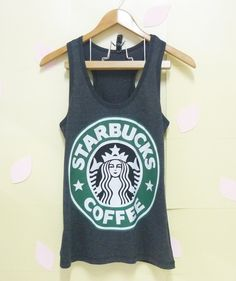 Starbucks tank top teen shirt women Tank Top BLACK by CuteClassic, $12.80