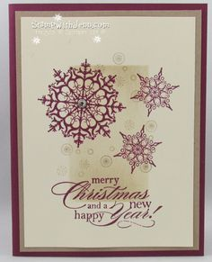 Christmas card with snowflake soirree