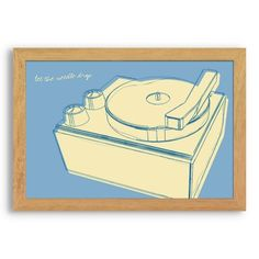 Find it at the Foundary - Lunastrella Record Player Framed Print - 12 x 18