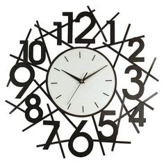 Metal Wall Clock - Matte Black #Doesnotapply