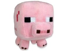 """J!NX : Minecraft Baby Pig 7"""" Animal Plush - Clothing Inspired by Video Games & Geek Culture"""