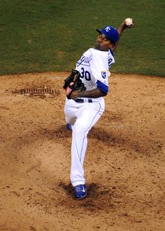 CrowdCam Hot Shot: Kansas City Royals starting pitcher Yordano Ventura delivers a pitch in the fifth inning against the Cleveland Indians at Kauffman Stadium. Photo by John Rieger