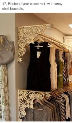 Cute decor for Clothing Rack
