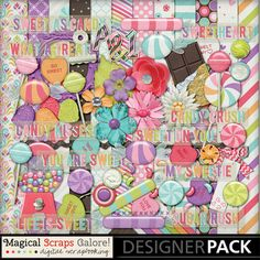 {Sweet As Candy} Digital Scrapbook Kit by Magical Scraps Galore