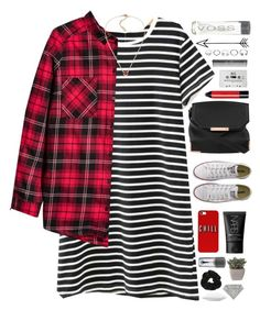 """""""Jealous // Short Story ; Part 3/3"""" by mel2016 ❤ liked on Polyvore featuring WithChic, H&M, Converse, Alexander Wang, NARS Cosmetics, Bobbi Brown Cosmetics, Blink, GHD, GUESS and MAC Cosmetics"""