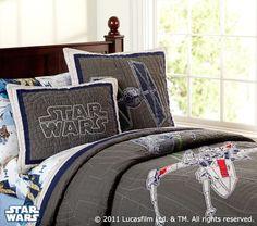 My boys would go ga-ga over this Star Wars bedroom stuff!