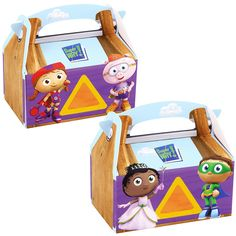 Super Why! Favor boxes