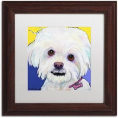Trademark Fine Art Lucy Canvas Art by Pat Saunders-White, White Matte, Wood Frame, Size: 11 x 11, Yellow