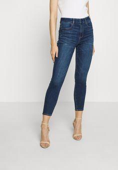 American Eagle CURVY HI-RISE CROP - Jeans Skinny - medium wash - ZALANDO.CH Crop Jeans, Jeans Skinny, Skinny Fit, Blue Denim, Blue Jeans, My Wardrobe, Curvy, Medium, Fashion Styles