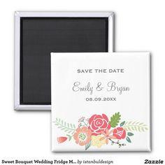 Sweet Bouquet Wedding Fridge Magnet